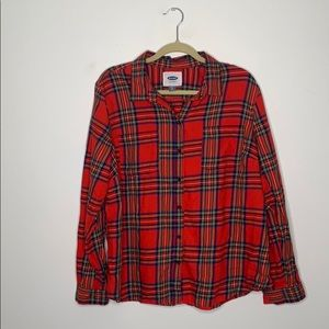 Ladies Old navy plaid flannel size XL
